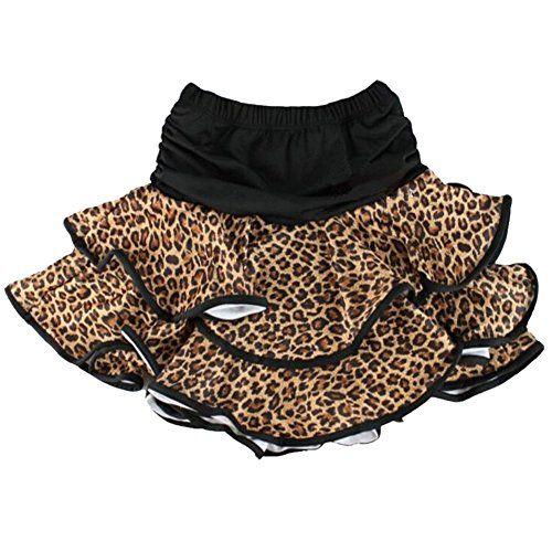 5044b678d66e3 TOOGOO(R) jupe de danse latine pour petite fille jupe de danse classique  robe de ballet pour petie file -S Leopard