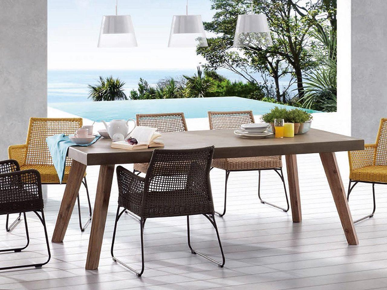 Aldo tavolo 200x100 legno acacia   Tavolo esterno, Tavolo ...