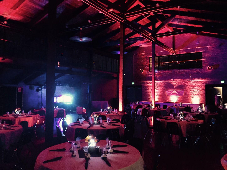 Architectural Wedding Lighting The Erfield Pavilion Valparaiso Indiana