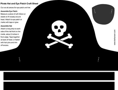 Sombrero Pirata Pirate Hat Template Pirate Hats For Kids Pirate Hat Crafts