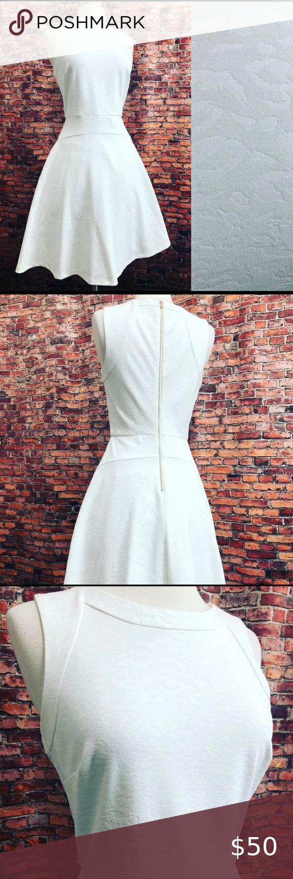 Calvin Klein White Fit Flare Dress W Stretch Dresses Fit Flare Fit Flare Dress [ 1740 x 580 Pixel ]