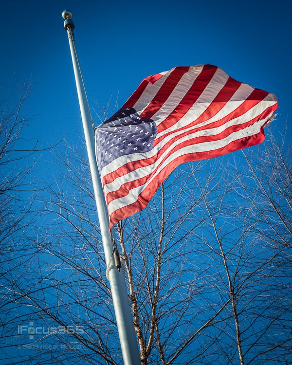 01 29 13 U S Flag Half Mast Winter The Pictures Ipicture365 Is An Image A Day Blog By Roger Ridpath Half Mast Flag Masts