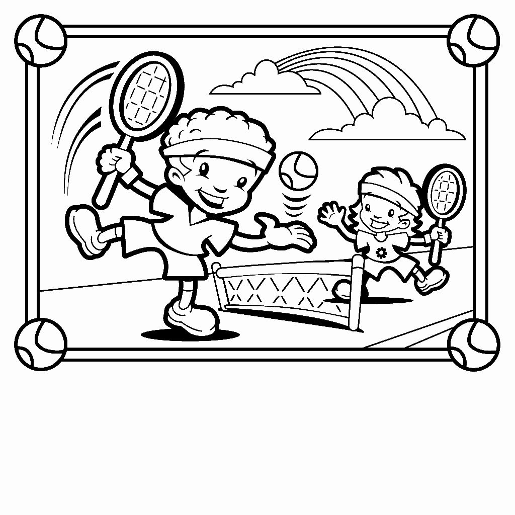 Childrens Coloring Books Unique Tennis Coloring Pages For Childrens Printable For Free Sports Coloring Pages Coloring Pages For Kids Kids Playing Sports