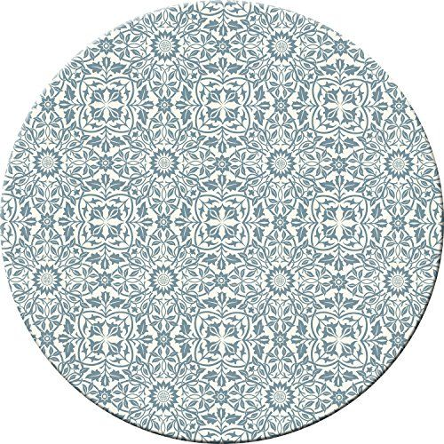 Hadley Table William Blue White Hard Placemats Round Set Of 4 Kitchen Placemats Decorative Tabletop Tabletop Accessories