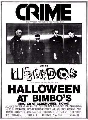 Crime- Show Poster With The Weirdos poster (d3)