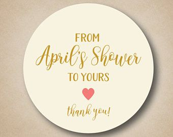 bridal shower favor labels from my shower to yours favor stickers baby shower stickers personalized thank