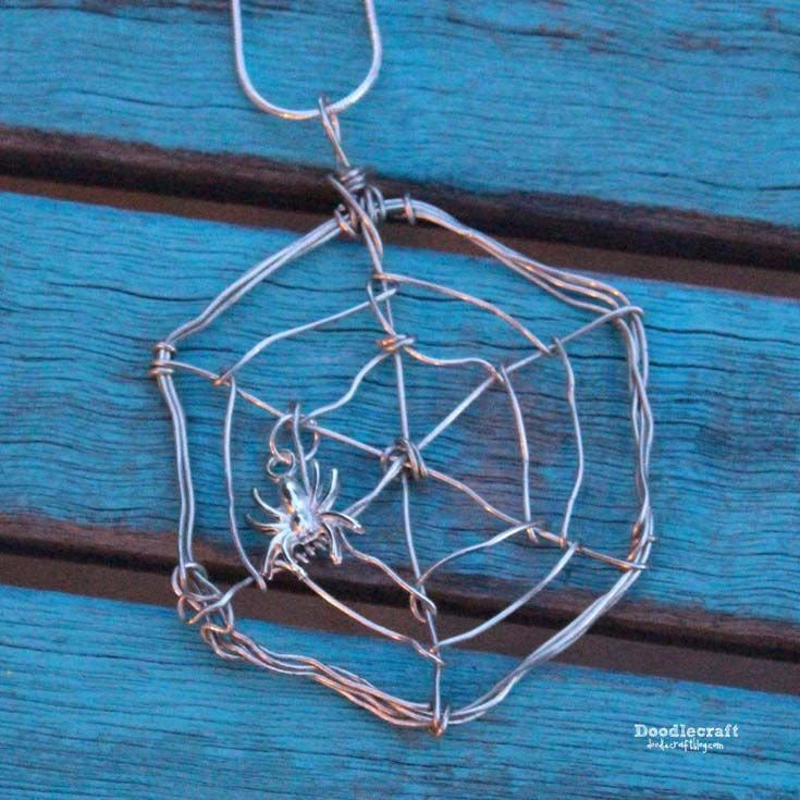 Wire Wrapped Spider Web Necklace! You will need: 20 gauge wrapping ...
