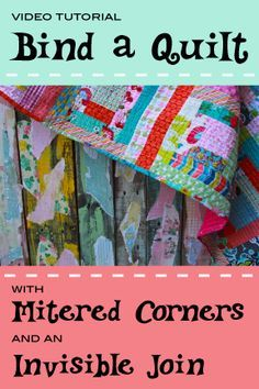 Learn how to beautifully bind a quilt with professional mitered ... : mitered corners on quilts - Adamdwight.com