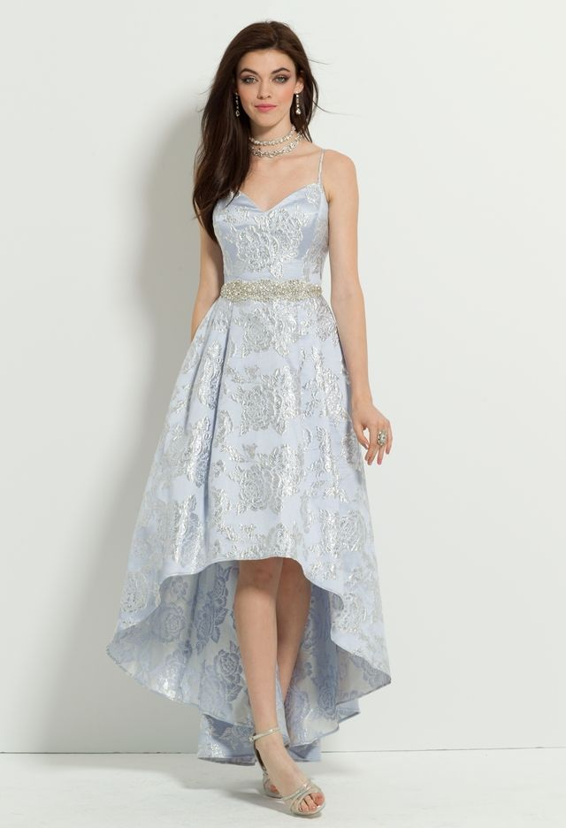 73aace3f6da Spaghetti Strap Brocade High Low Dress from Camille La Vie and Group USA  STYLE  28440 58529Z Starting at  189.99