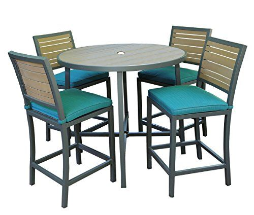 Ae Outdoor All Weather Woodbridge High Dining Set With Sunbrella Fabrics Https