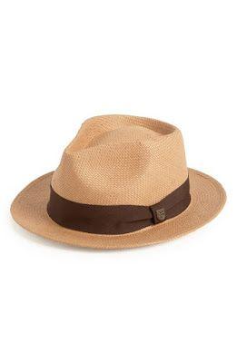 24e9feb3f6498e Brixton 'Baxter' Fedora Tan Hat, Brixton, Hats For Men, Panama Hat