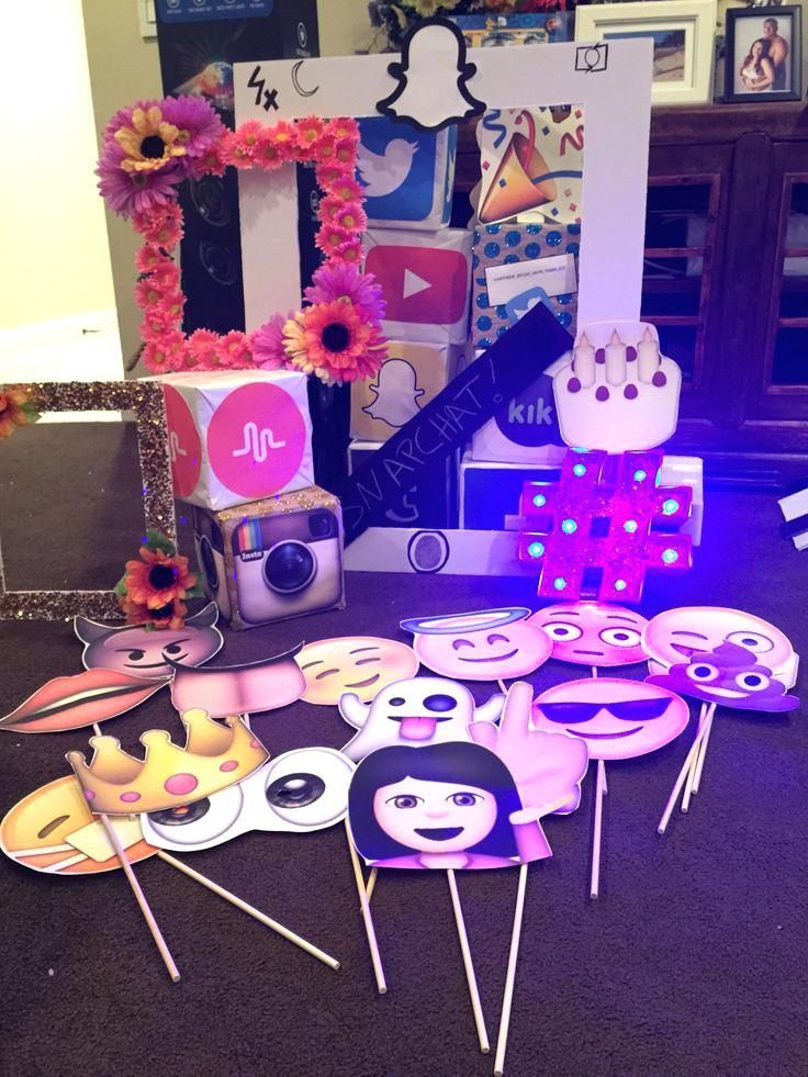 Birthday Party Ideas Teenage Girl Best Teen Themes On Outdoor Movie Props For Photo Booth Booths