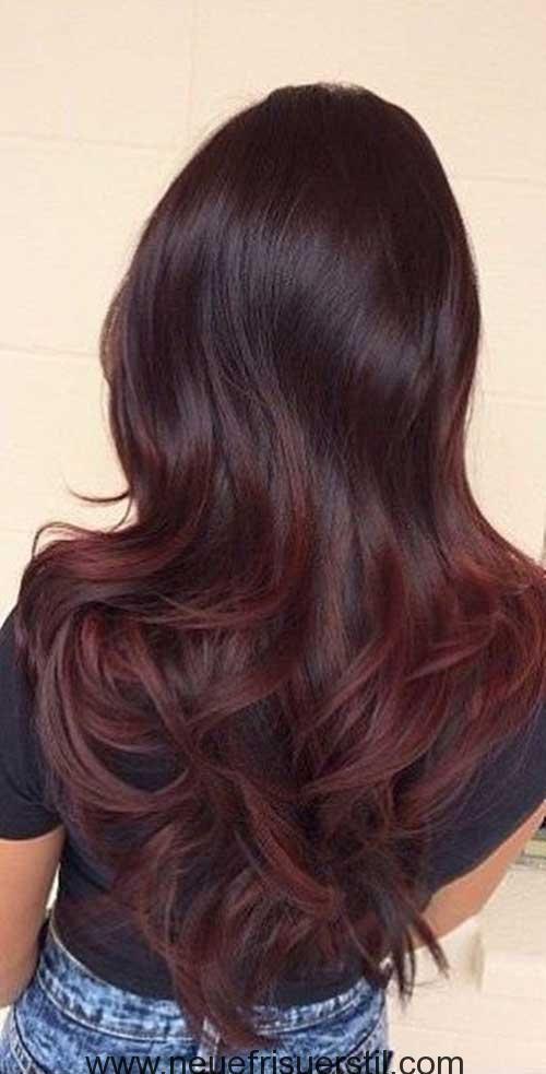 6dunkle Haare Rot Frisuren Pinterest Capelli Capelli