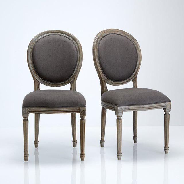 Chaise médaillon, lot de 2, Nottingham Dining chairs and House - salle a manger louis
