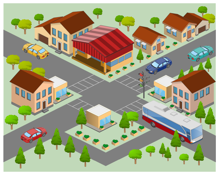 Map Pin In A Map Free Vector Instantshift Beautiful Free: Neighborhood 3D Directional Map