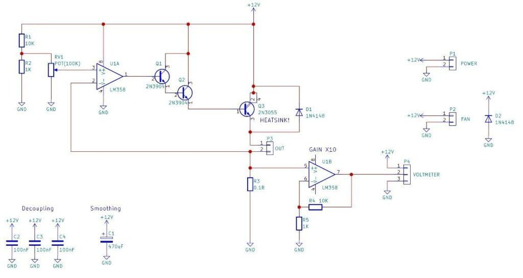 how to make a constant current source power supply circuit custom rh pinterest com