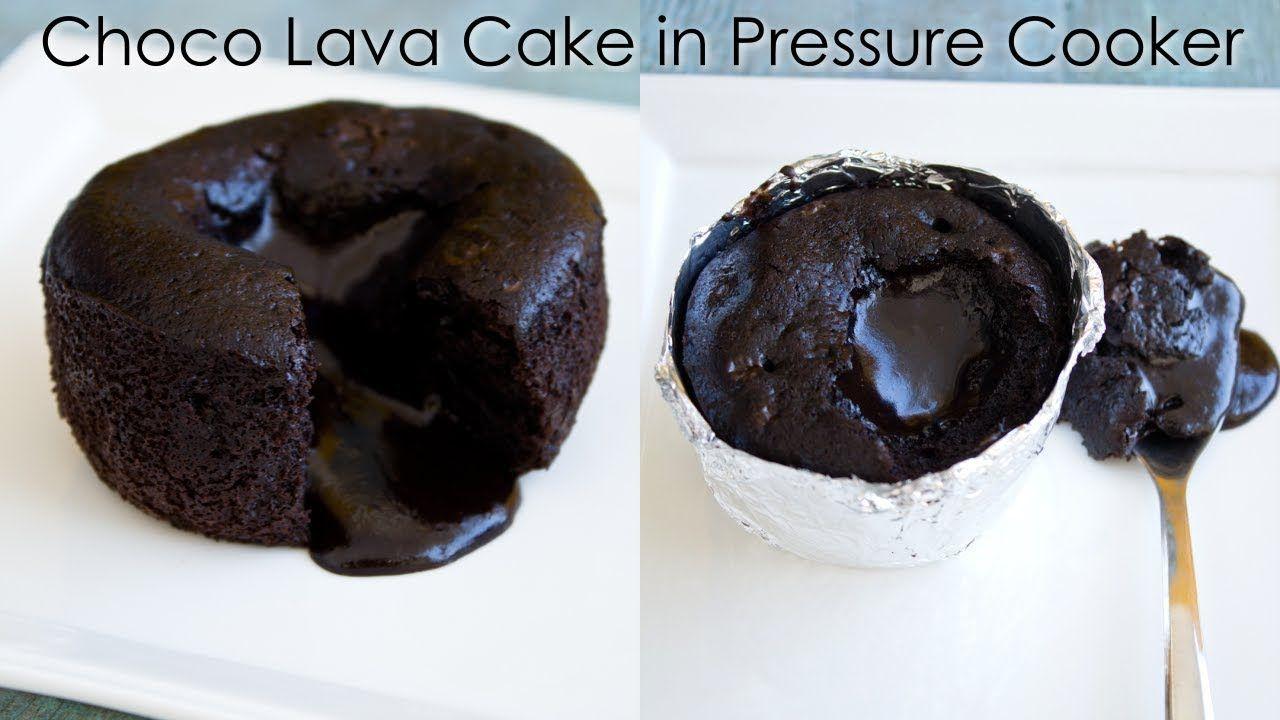 Eggless Choco Lava Cake In Pressure Cooker In Homemade Molds The Ter Lava Cakes Choco Lava Cake Recipe Chocolate Lava Crunch Cake Recipe