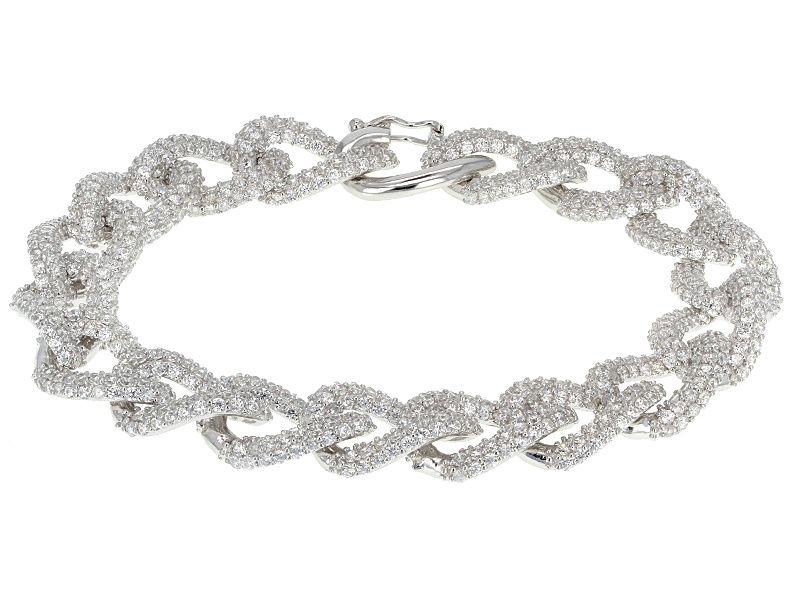 Bella Luce 23 25ctw Round Rhodium Over Sterling Silver Bracelet