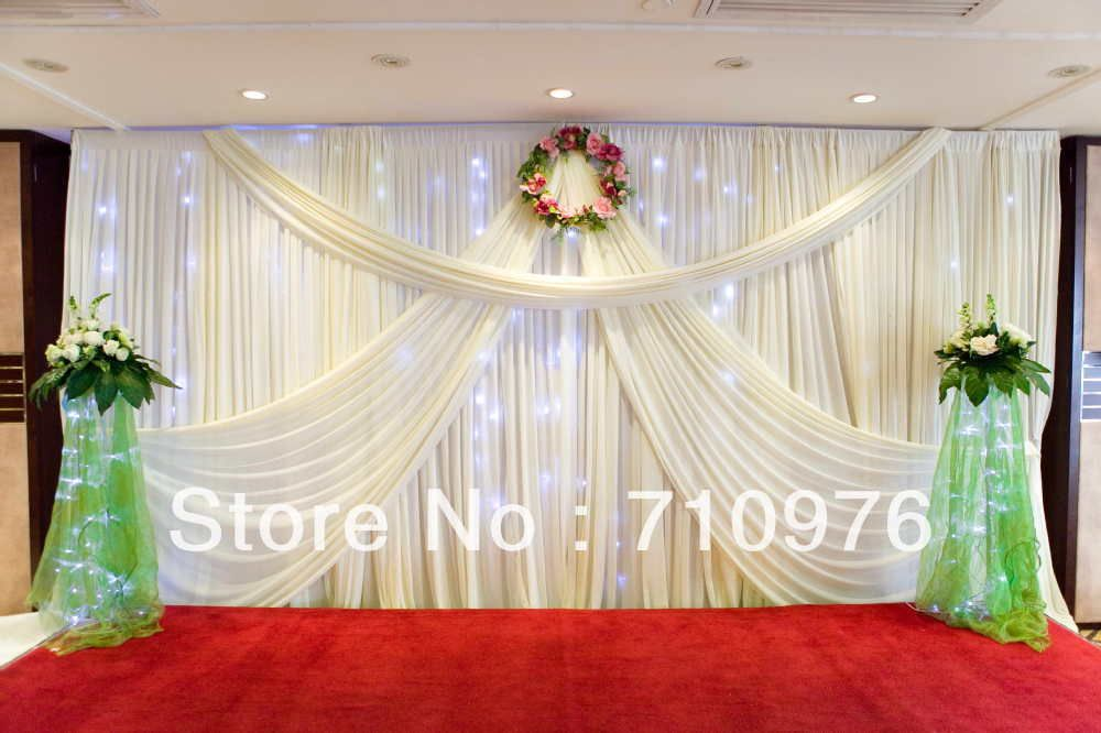 Wedding Backdrop Curtains With Beads   Google Search