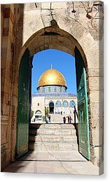 Al-aqsa Mosque Canvas Print - Dome Of The Rock Gate by Munir Alawi