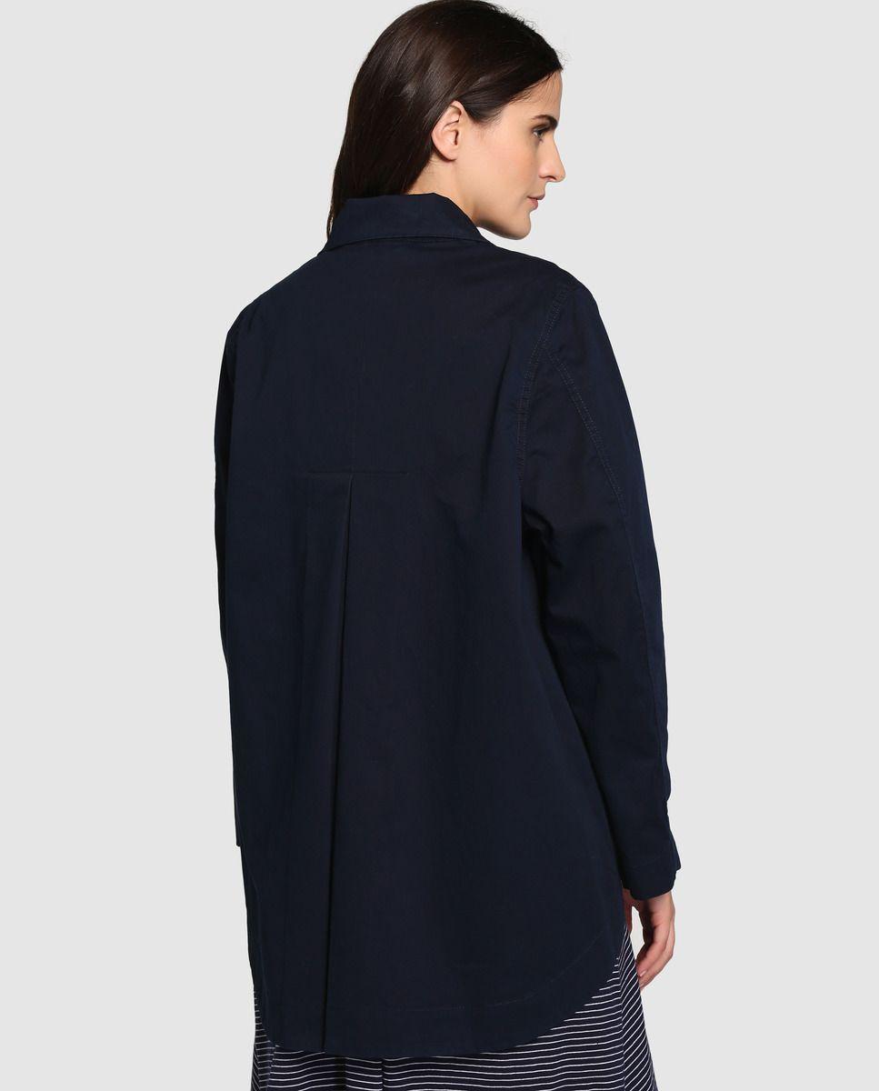 De Abrigo Talla Mujer Corto · En Grande Azul Marino Couchel rtr5p