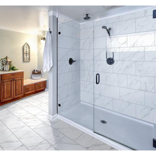 Crescendo White Porcelain Tile In 2020 White Bathroom Designs White Tile Shower White Porcelain Tile