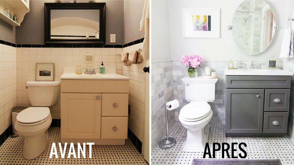 Avant / Après : La salle de bains gagne en luminosité #homestagingavantapres