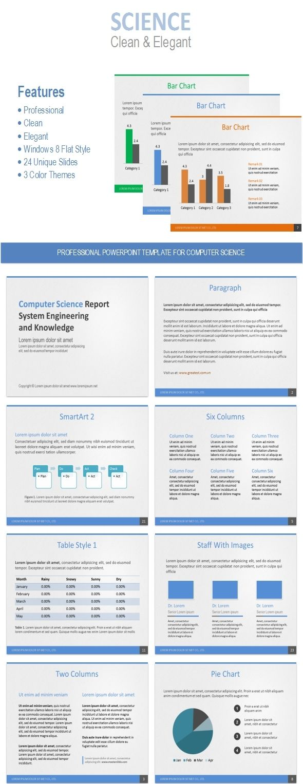 powerpoint template for computer science | science, templates and, Presentation templates