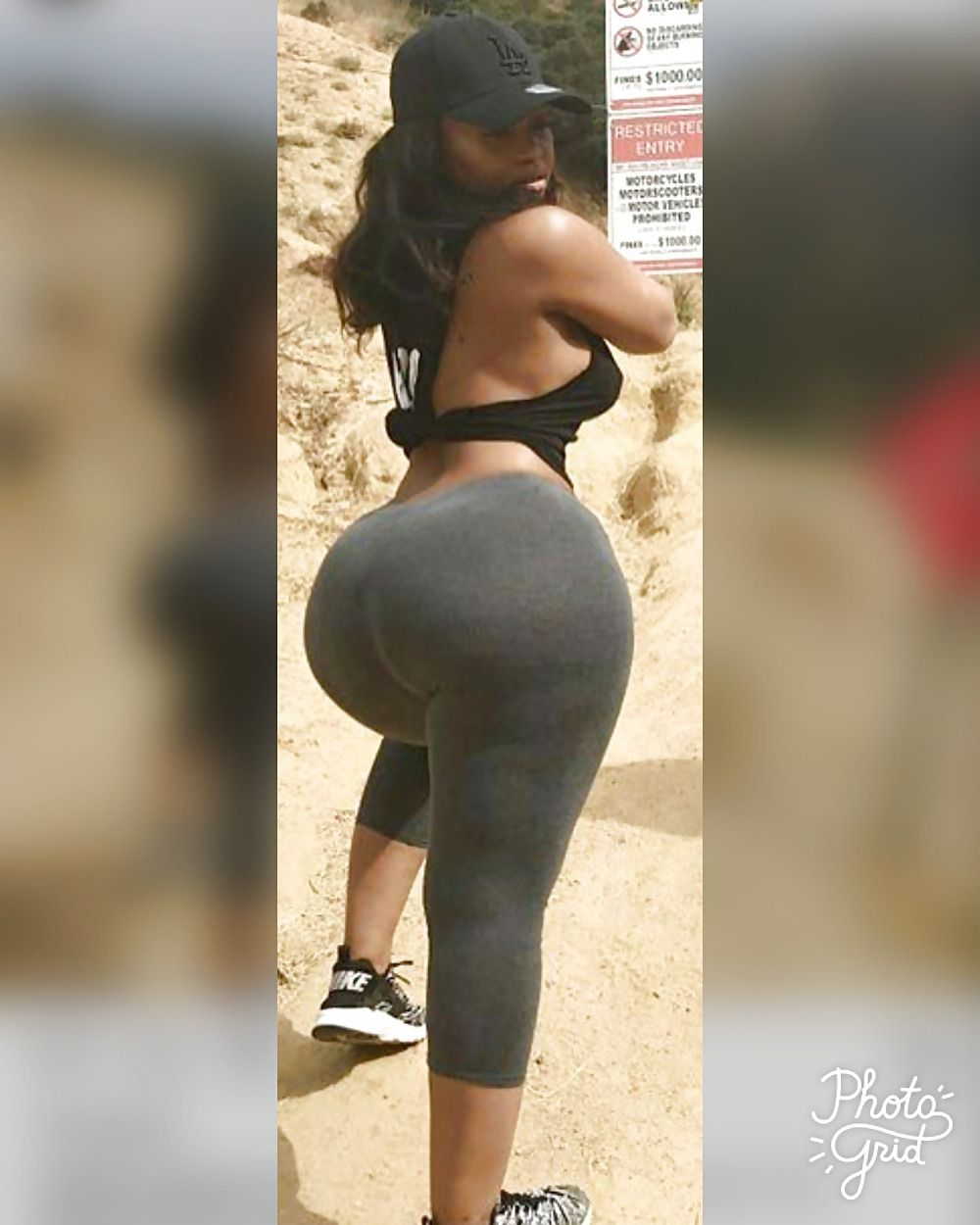 Big Black Booty In Yogapants Bubblebutt