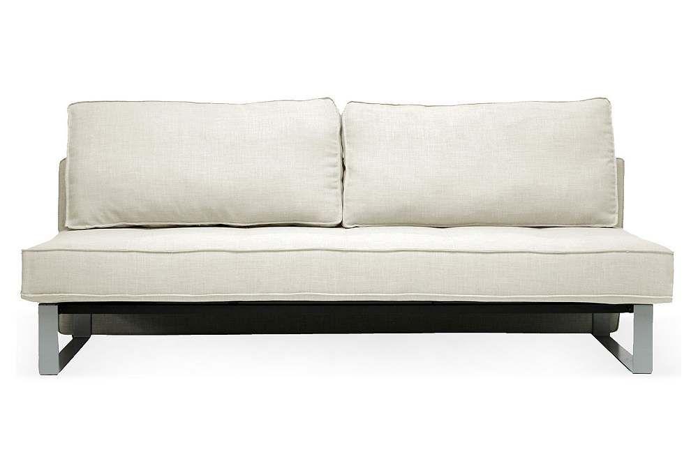 Best Shelby Modern Sofa Bed Beige Linen Lays Down Flat Like 400 x 300