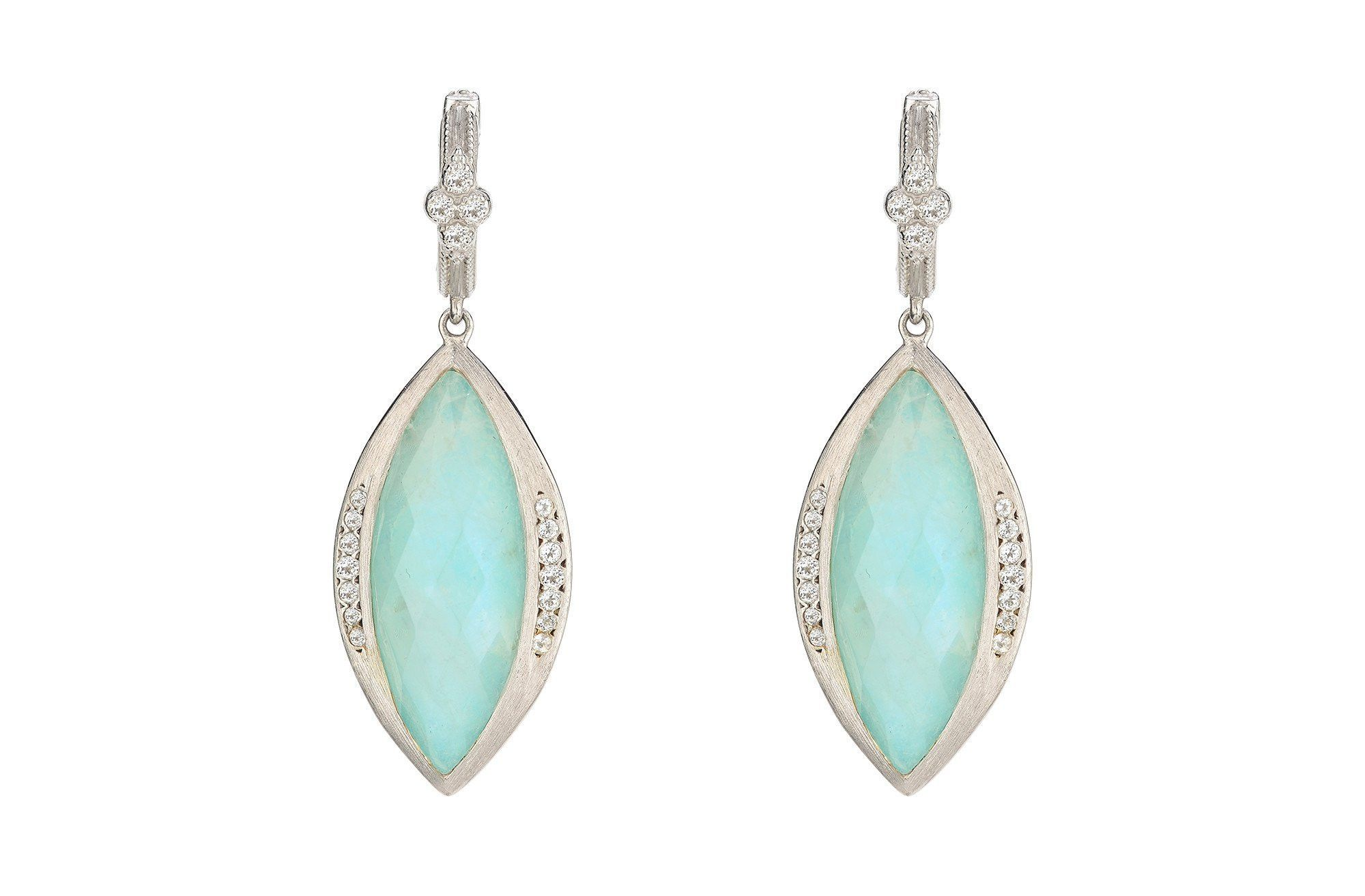 Large Marquis Stone Earrings