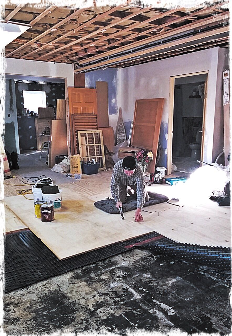 Bob Has The Thankless Task Of Putting In The Basement Subfloor - Breathable flooring for basements