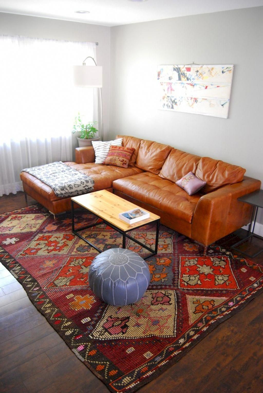 cognac leather chairs in living room