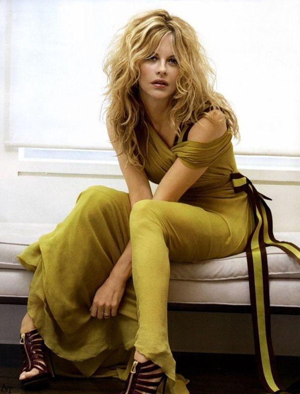 Meg Ryan, chartreuse dress- 2008