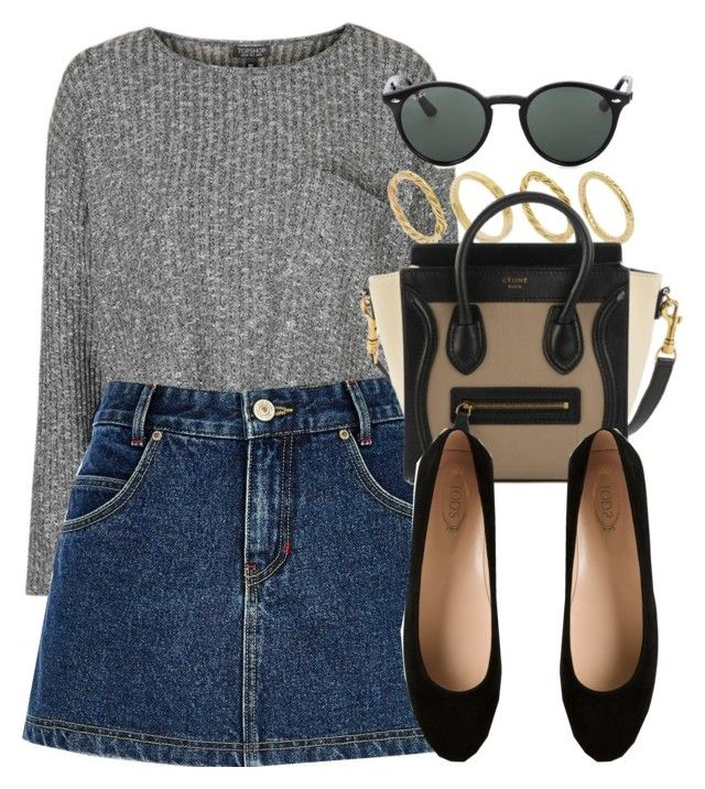 """""""Style #10362"""" by vany-alvarado ❤ liked on Polyvore featuring Topshop, Made, River Island, Tod's and Ray-Ban"""