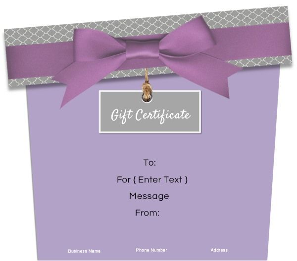 Gift Shaped Gift Certificates Customize onlineFree instant - create gift certificate online free