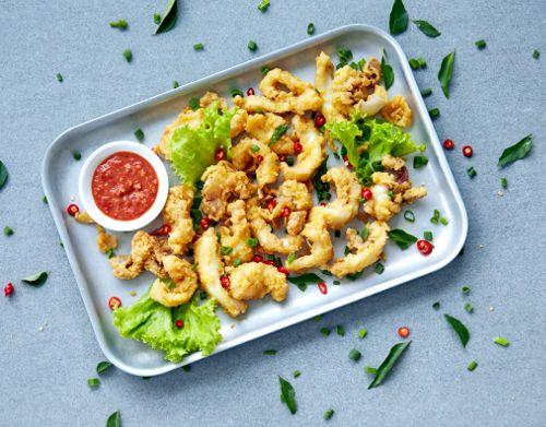 diamond kitchen - salted egg yolk squid recipe