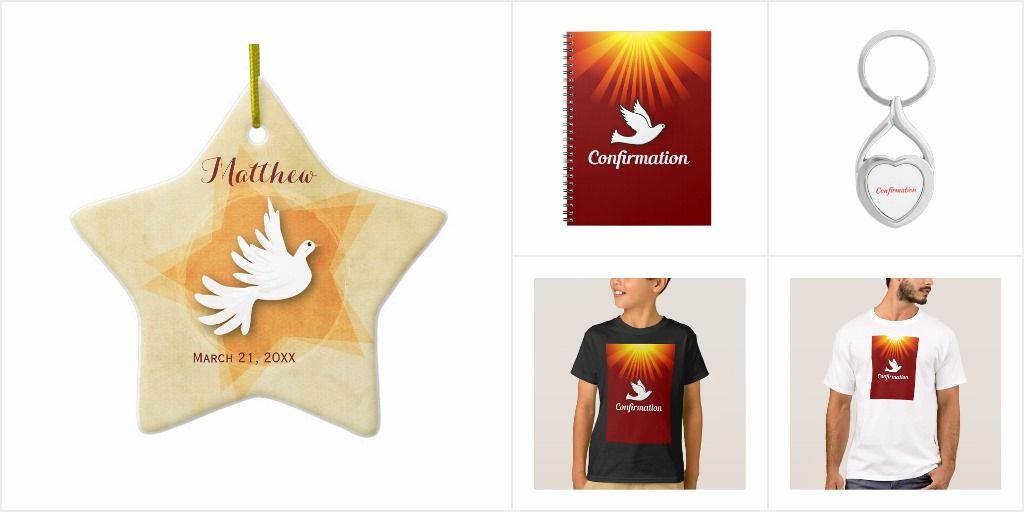 Confirmation gifts and party goods customizable