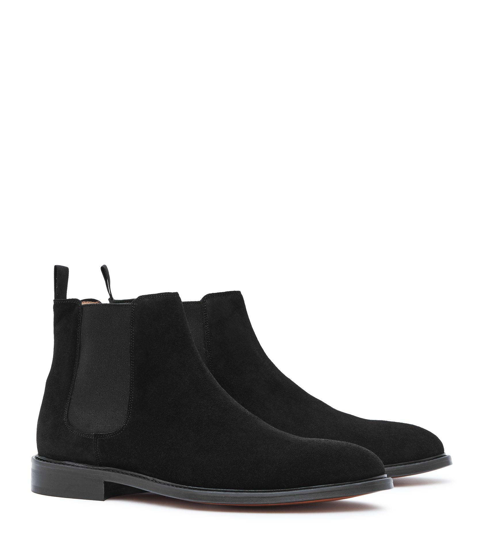 Mens Black Suede Chelsea Boots - Reiss Tenor Suede   Clothes ... 56a232d3bc
