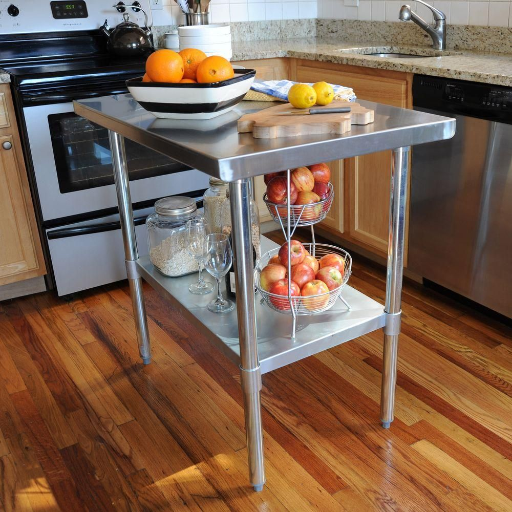Sportsman Stainless Steel Kitchen Utility Table | Stainless steel ...
