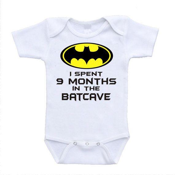 5f0e43c1d I spent 9 months in the batcave parody by urbanskiesboutique, $11.95 Batman  Onesie, 9th