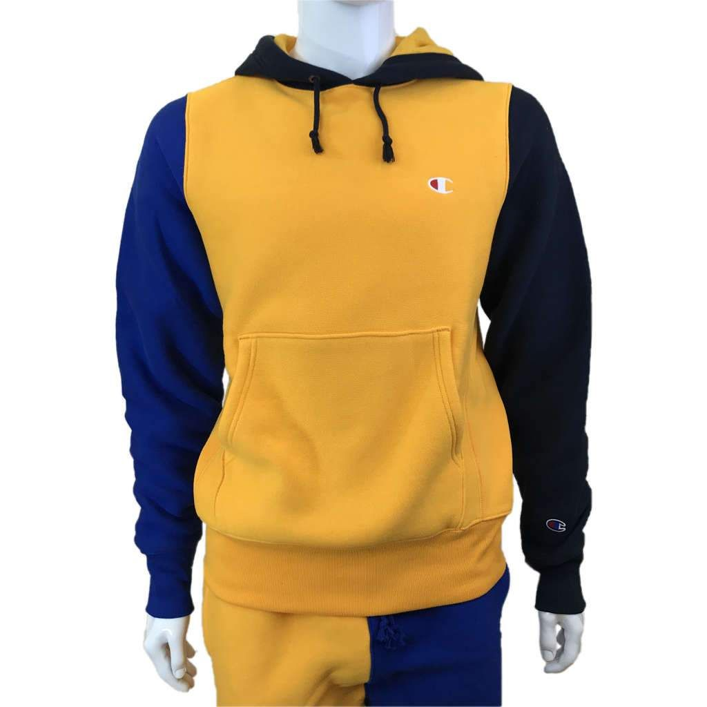 3c2a9a539fe92 Champion - Mens - Reverse Weave Colorblock Hoodie