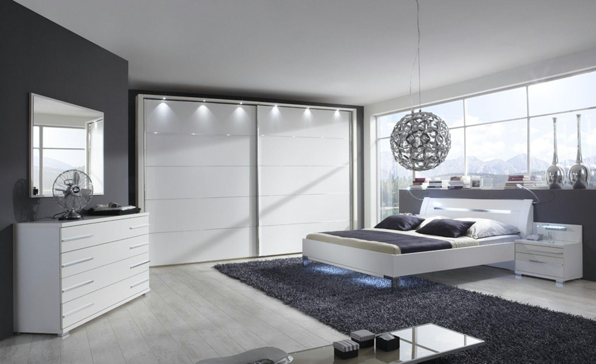 mobel kraft schlafzimmerschrank, komplett-schlafzimmer 4-teilig - weiß - 250 cm - 217 cm - 67 cm, Design ideen
