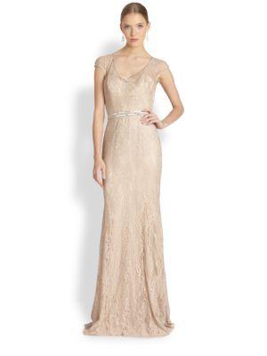 Aidan Mattox - Sequin Tulle Sleeveless Gown - Saks.com   Hair ...