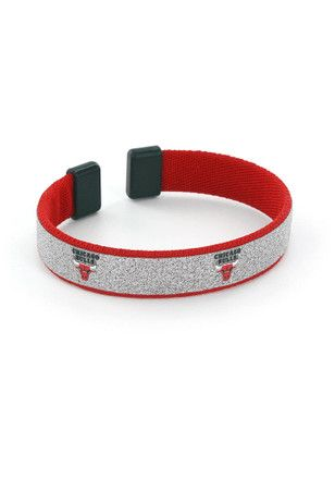 Chicago Bulls Silver Sparkle Womens Bracelet