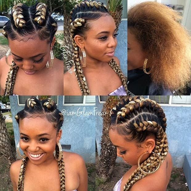 Image Result For Curly Wavy Goddess Braids Goddess Braids Hairstyles Braided Hairstyles Braided Hairstyles For Black Women