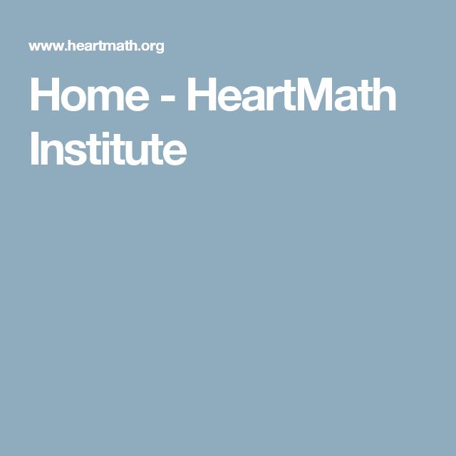 Home Heartmath Institute Institute Neuroscience Brain