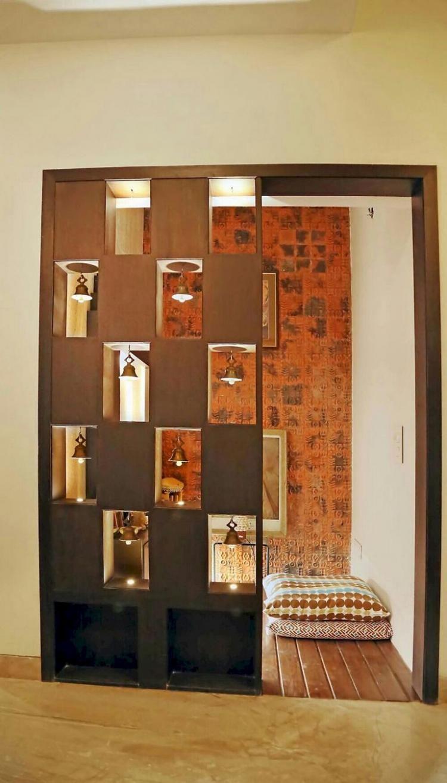 Unusual Room Divider Ideas For Small Space Pooja Room Door