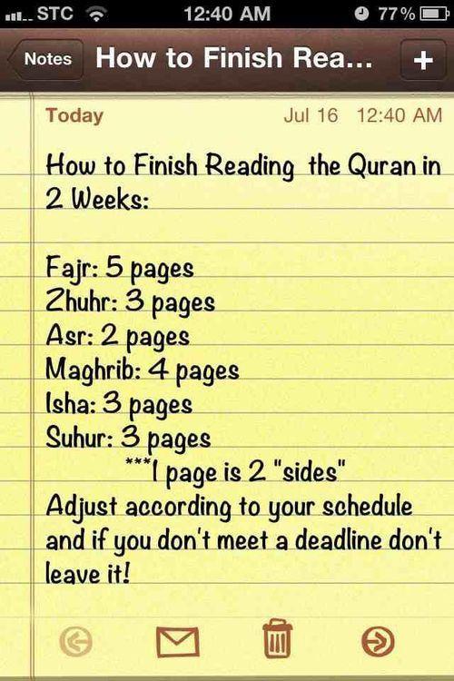 Finishing Quran In 2 Weeks Islamic Quotes Quran Quran Islamic