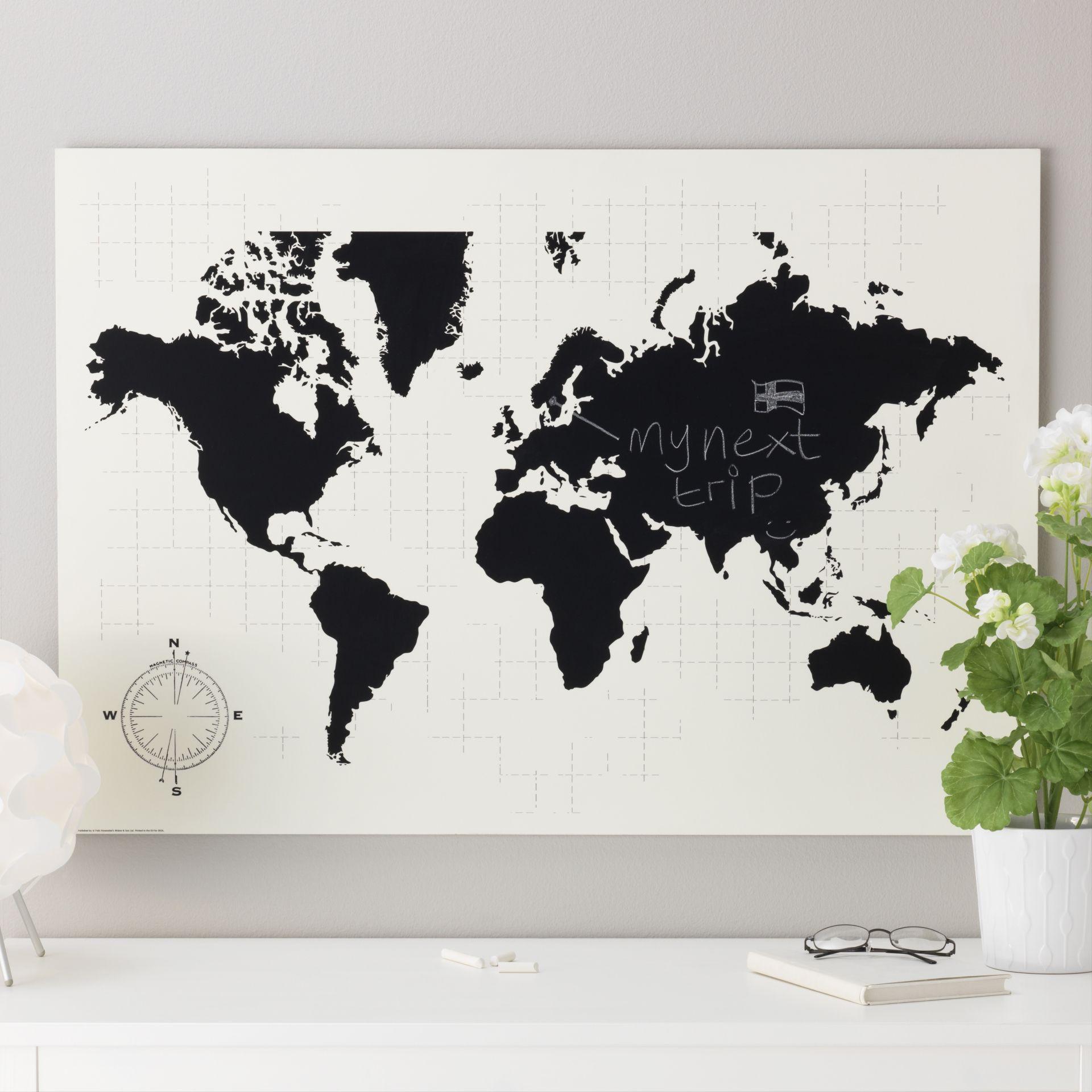 Questa cartina, oltre a essere decorativa, è anche una lavagna su cui pianificare il tuo prossimo viaggio. #sorprenditiognigiorno